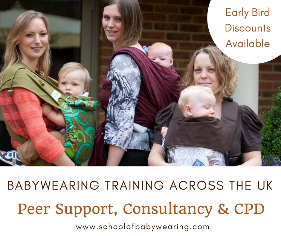 babywearing training in the UK. Accredited courses for peer support, babywearing consultancy and CPD